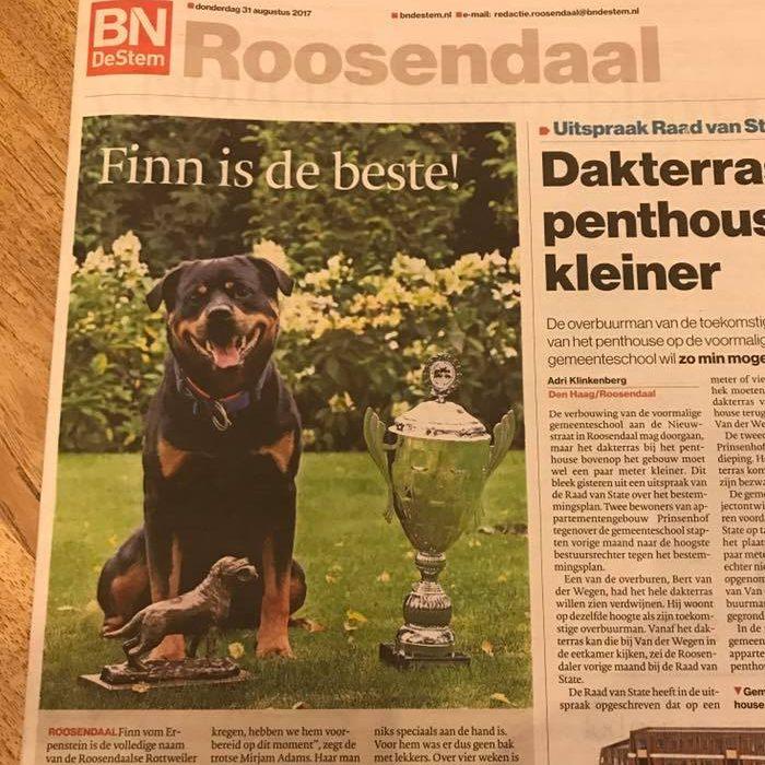 Roosendaalse Finn beste Rottweiler van de wereld!